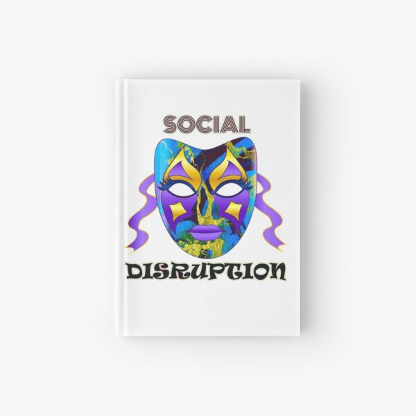 Social Distancing Disruption Bold Unusual Artwork Typography  Hardcover Journal