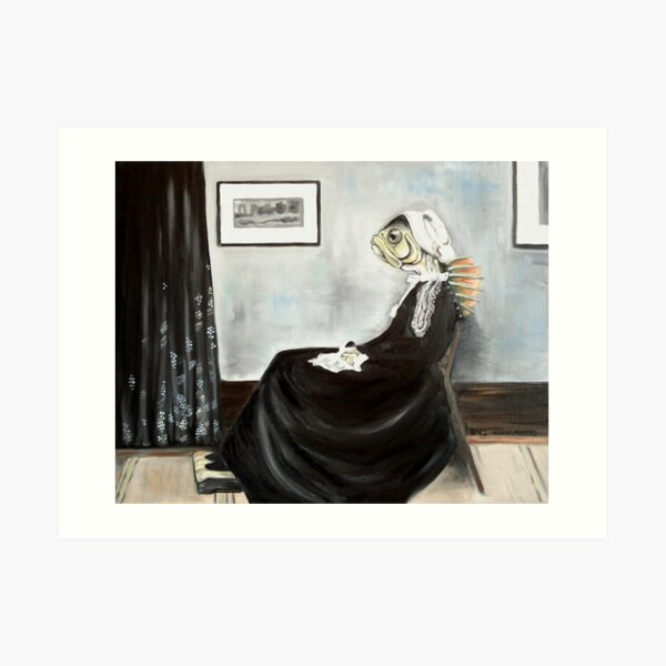 Whistler's Mother (as a fish) Art Print