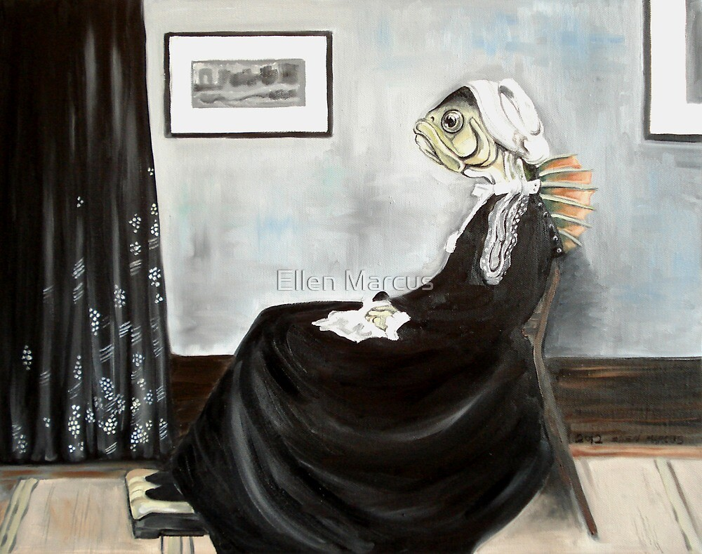 Whistler's Mother (as a fish) by Ellen Marcus