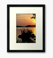Inks Lake State Park Sunset Framed Print