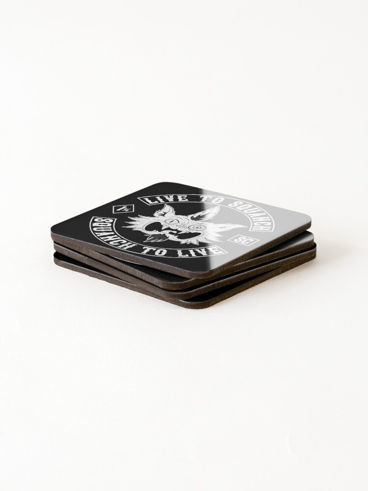 Alternate view of Squanch Club, one color Coasters (Set of 4)