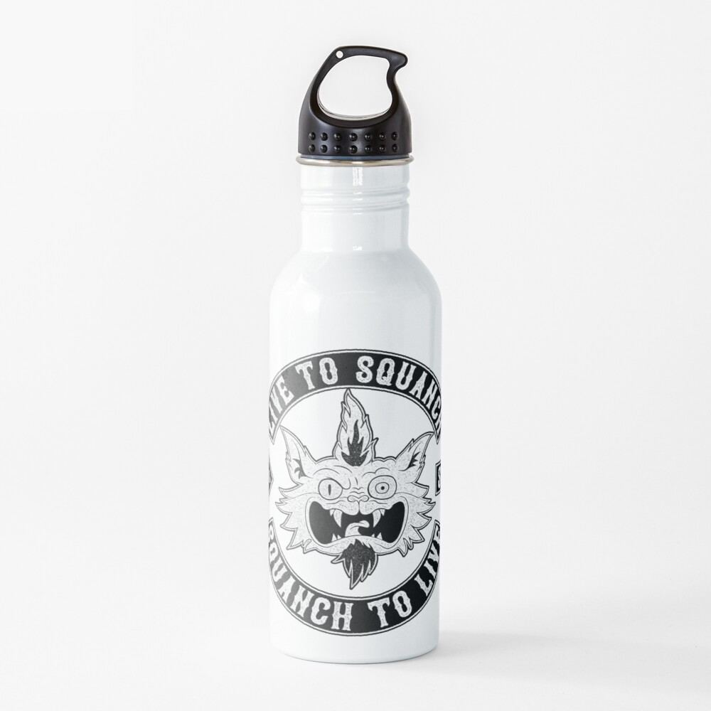 Squanch Club, one color Water Bottle