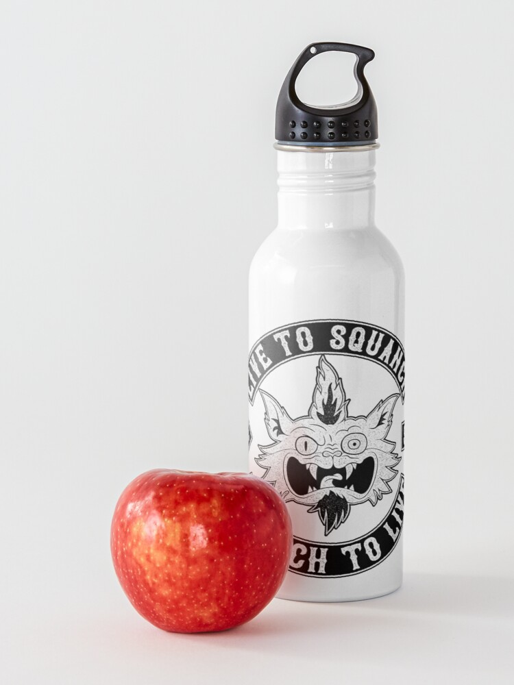 Alternate view of Squanch Club, one color Water Bottle