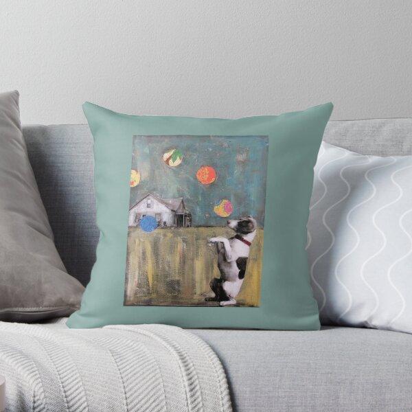 The Juggler..Jack Russell Magic  Throw Pillow