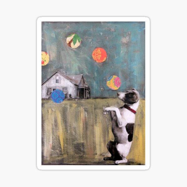 The Juggler..Jack Russell Magic  Sticker