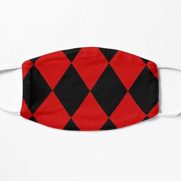 Diamant Arlequin Rouge Noir Masque sans plis