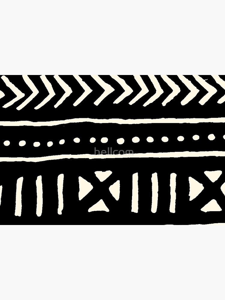 african mud cloth black and white by hellcom