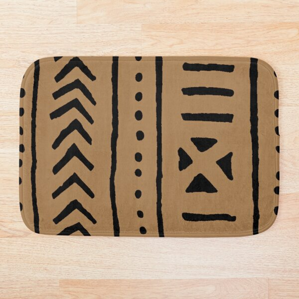 african mud tribal cloth Bath Mat
