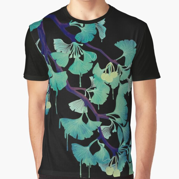 O Ginkgo (on Black) Graphic T-Shirt