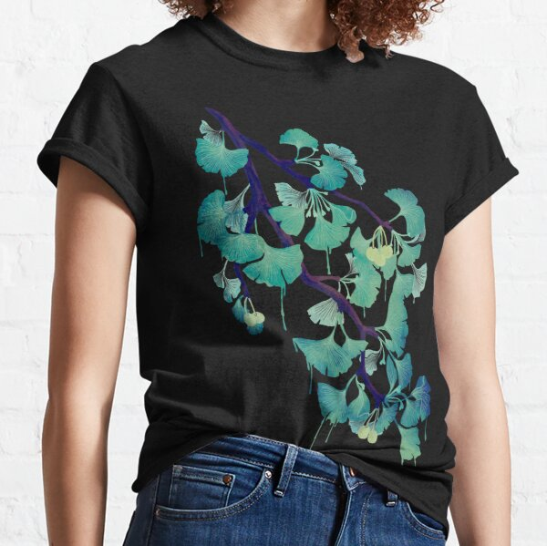 O Ginkgo (on Black) Classic T-Shirt