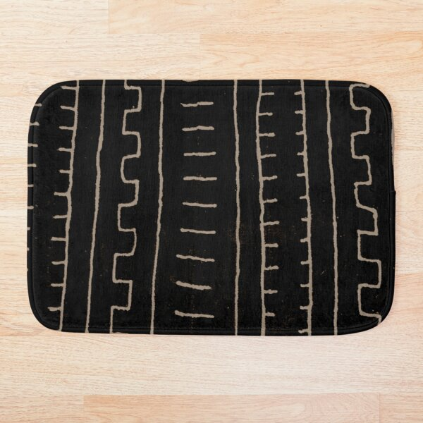 simple african mud cloth Bath Mat