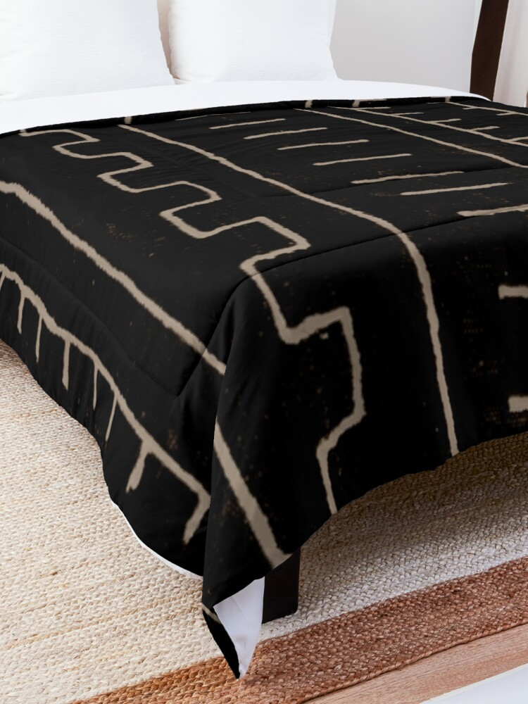 Alternate view of simple african mud cloth Comforter