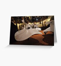 Whirling Dervishes Greeting Card