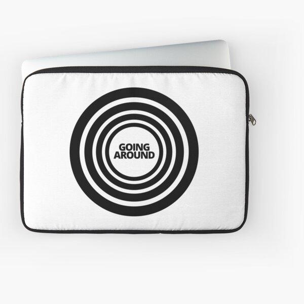 Black Target Design Going Around In Circles  Laptop Sleeve
