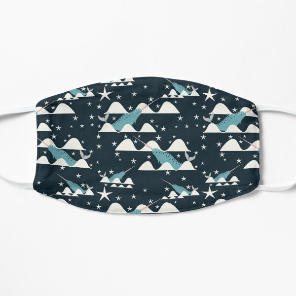 swimming narwhal Mask