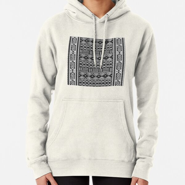 charcoal african mud cloth Pullover Hoodie