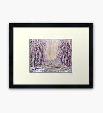 DAZZLING WINTER  Framed Print