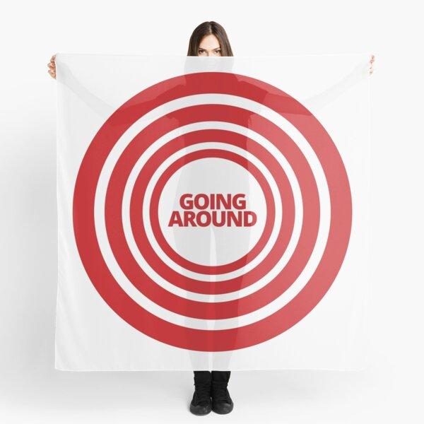 Red Target Design Going Around In Circles  Scarf