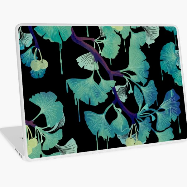O Ginkgo (on Black) Laptop Skin