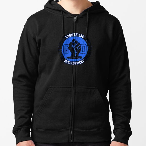 GD Growth and Development  Zipped Hoodie