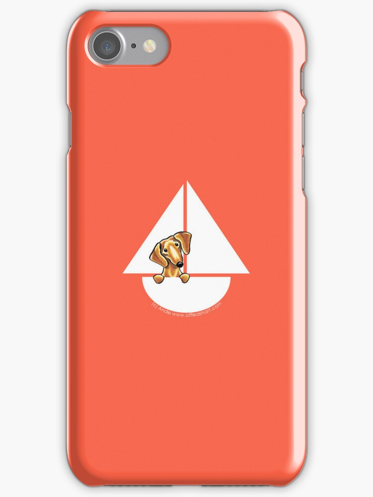 Smooth Red Dachshund Sail Away by offleashart