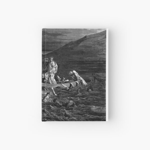 the Divine Comedy by 14th century Italian poet Dante Alighieri. 1860 artwork, by French artist Gustave Dore and engraved by Stephane Pannemaker Hardcover Journal