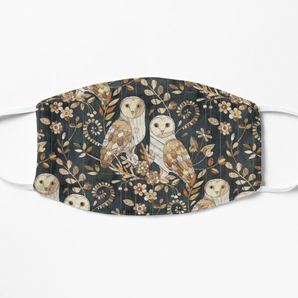 Wooden Wonderland Barn Owl Collage Flat Mask