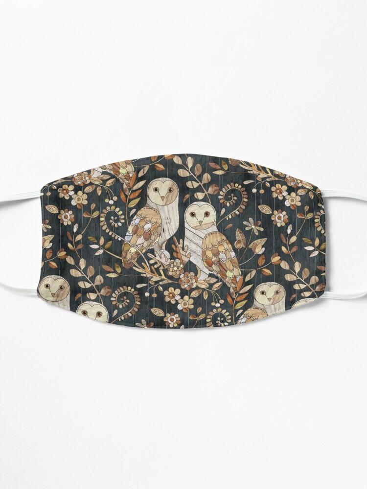 Alternate view of Wooden Wonderland Barn Owl Collage Mask