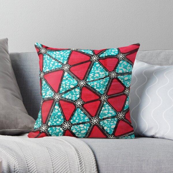 African wax Ankara print Throw Pillow