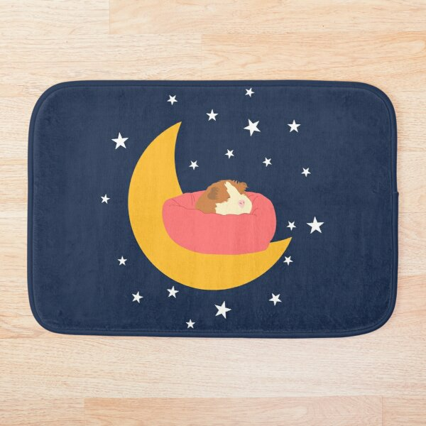 Sleeping Guinea Pig Bath Mat