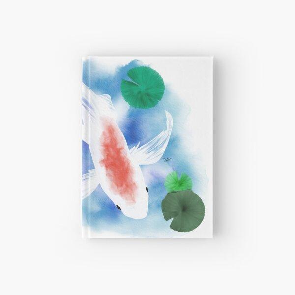 Watercolor White Goldfish Hardcover Journal