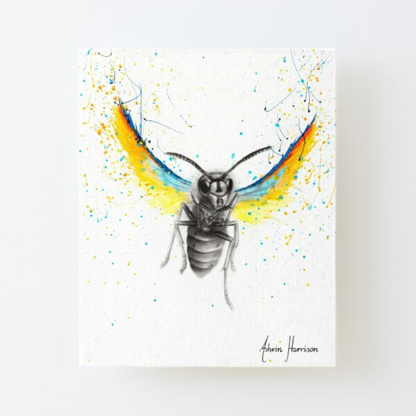 Brave Busy Bee Canvas Mounted Print