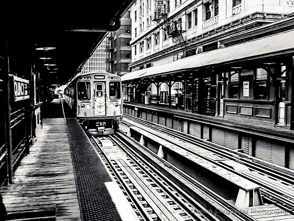 Chicago Black Series--The EL by Damian  Christopher Photography