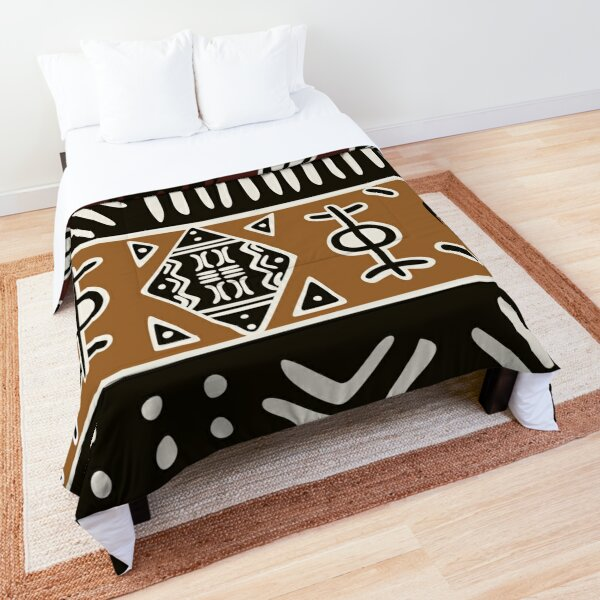 African mud cloth with elephants Comforter