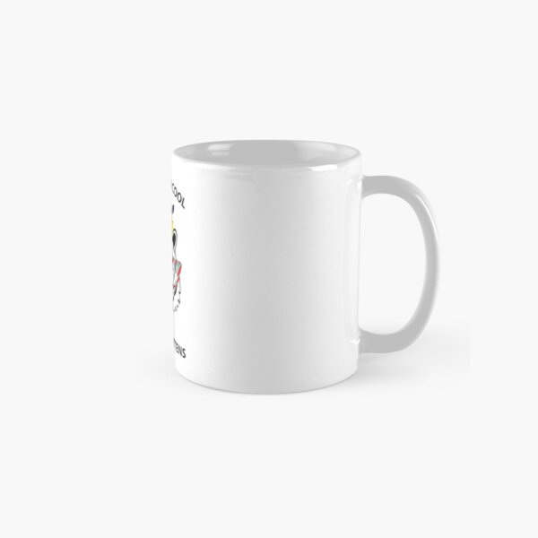 Hey all you cool cats and kittens - black tiger with glasses, gum and flowers Classic Mug
