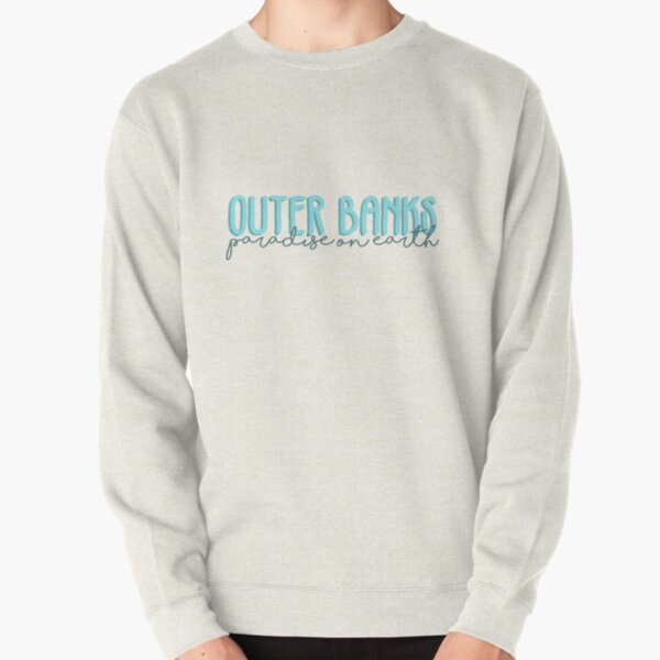 outer banks paradise on earth light blue Pullover Sweatshirt