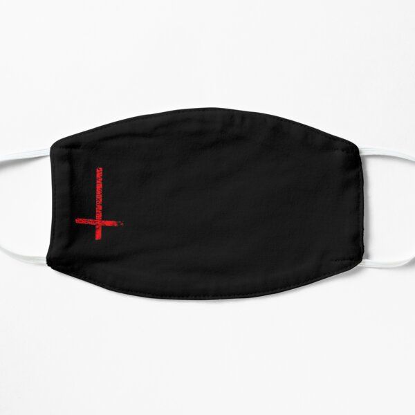 Satan - upside down cross Flat Mask
