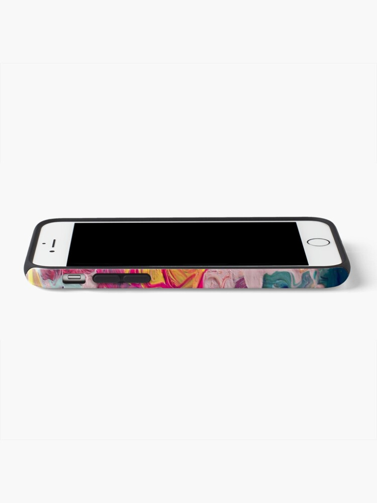 Alternate view of Rainbow Flow Abstraction iPhone Case & Cover