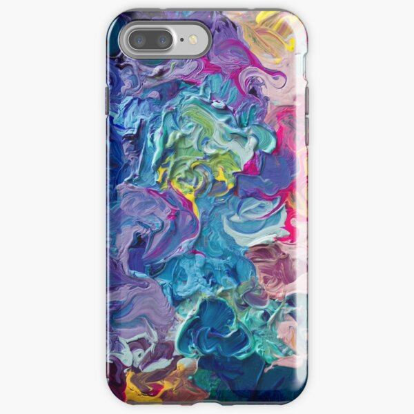 Rainbow Flow Abstraction iPhone Tough Case