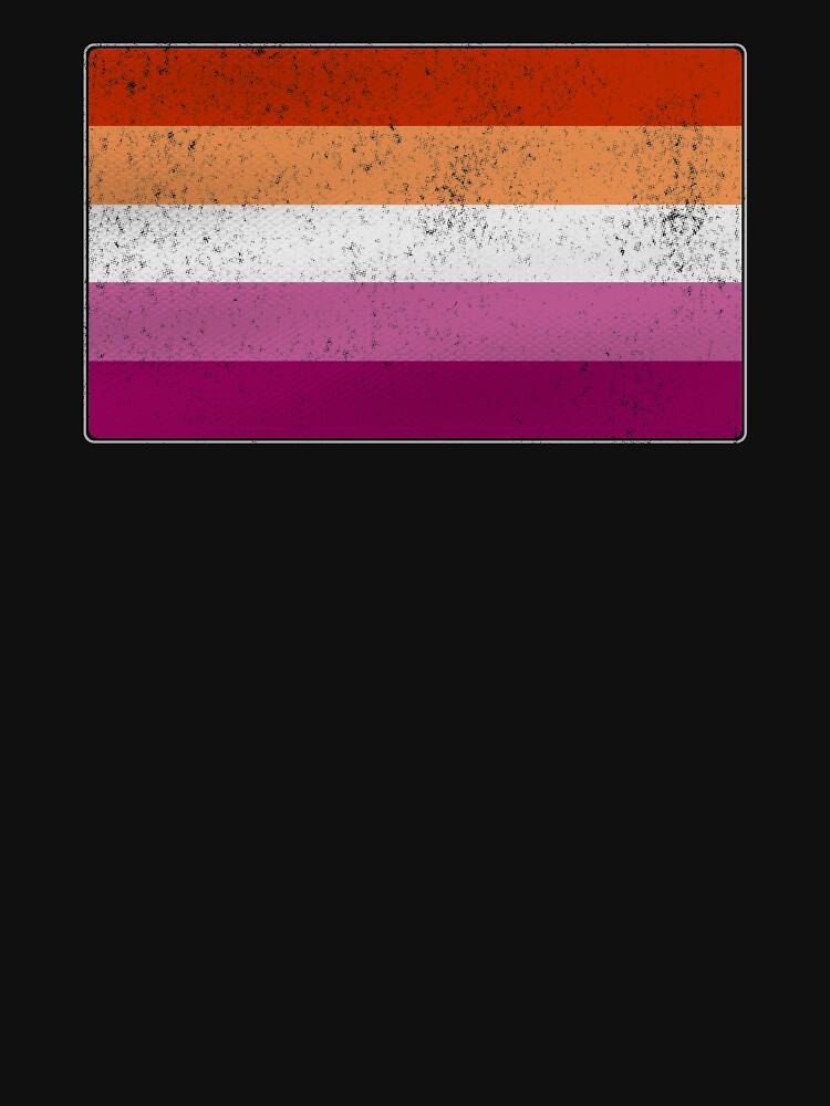 Distressed Lesbian Pride Flag by valador