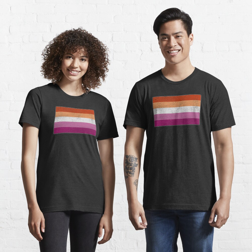 Distressed Lesbian Pride Flag Essential T-Shirt
