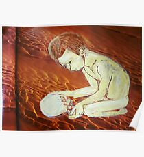 boy and skull Poster