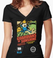 Guardians of Sunshine Women's Fitted V-Neck T-Shirt
