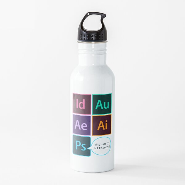 Adobe icons Water Bottle