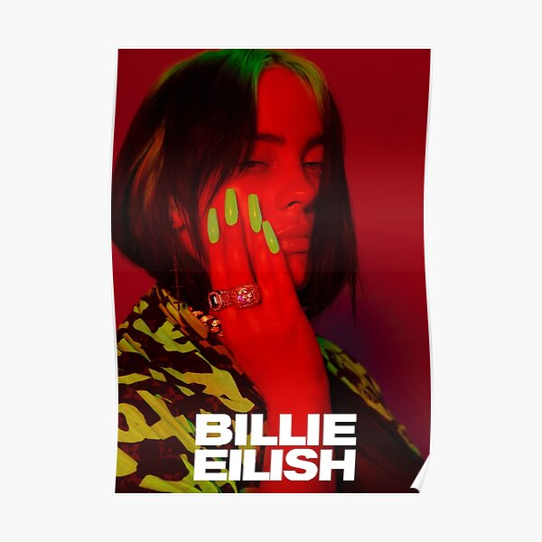 Eilish glow in the dark red Poster