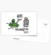 Aliens love Astronauts Postcards