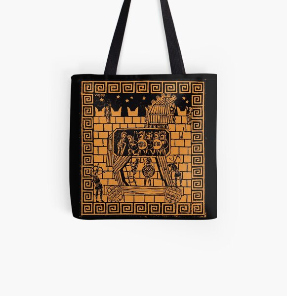 Trojan Horse All Over Print Tote Bag