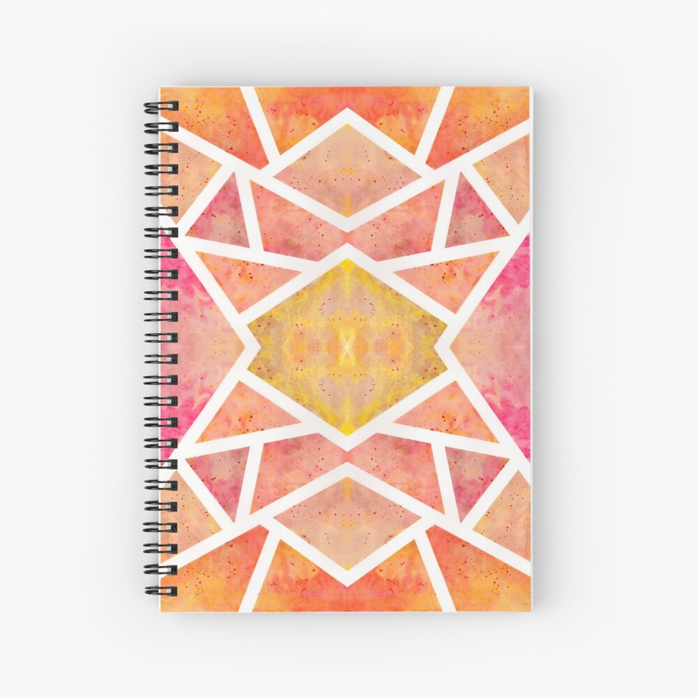 Cahier à spirale «Mosaïque Orange »