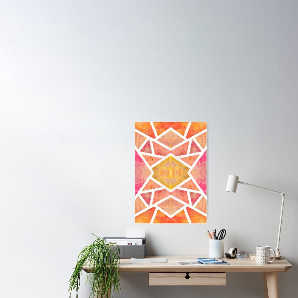 Poster «Mosaïque Orange »