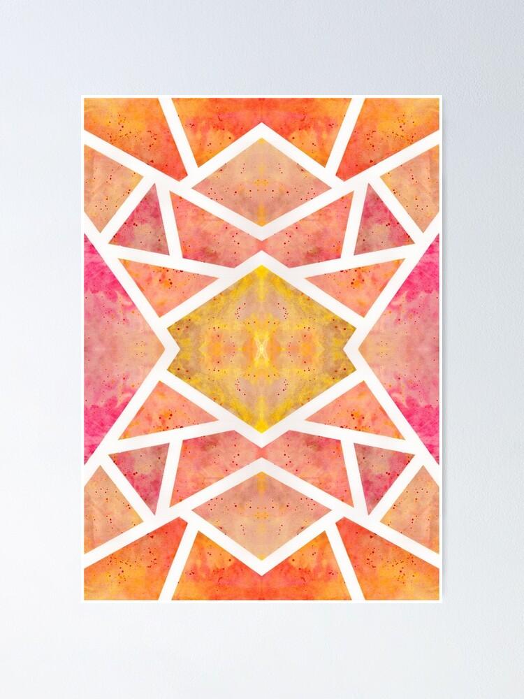 Poster ''Mosaïque Orange ': autre vue
